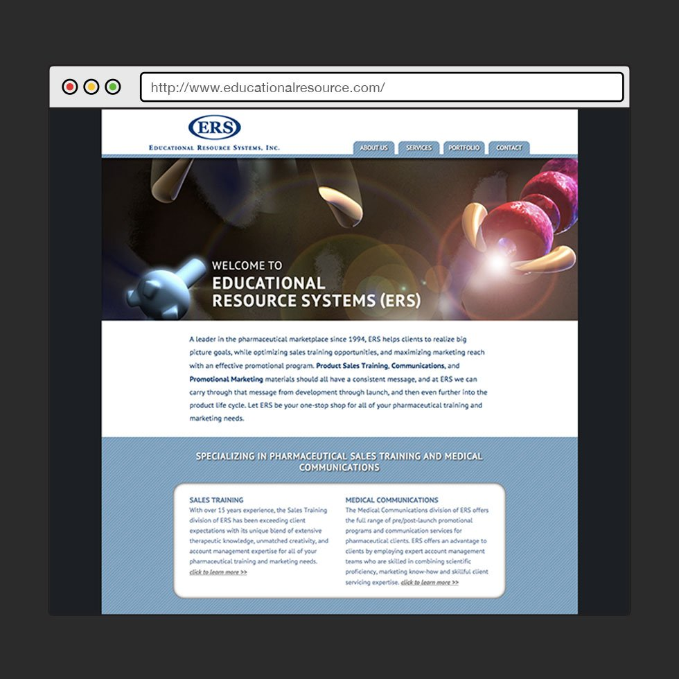 HTML | Front End Art Direction + Design | Educational Resource Systems, Inc.