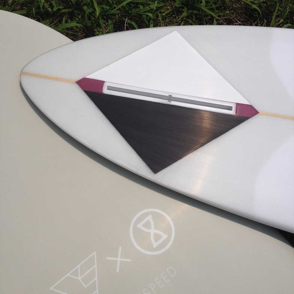 Resin Panel on Singlefin Surfboard by JD San Jose